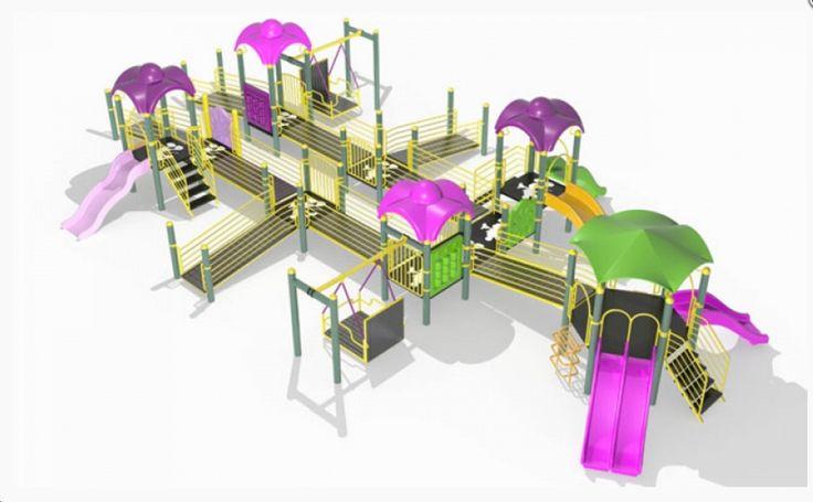 3 adet polietilen düz kaydırak  1 adet polietilen altıgen çatı  6 adet üçgen kauçuk platform  2 adet 4 basamaklı kauçuk merdiven  1 adet polietilen ikiz kaydırak  1 adet tırmanma birimi  3 adet rampa  8 adet kare kauçuk platform  3 adet polietilen korkuluk  4 adet polietilen çatı  2 adet engelsiz salıncak  4 adet ara geçit  1 adet polietilen dalgalı kaydırak