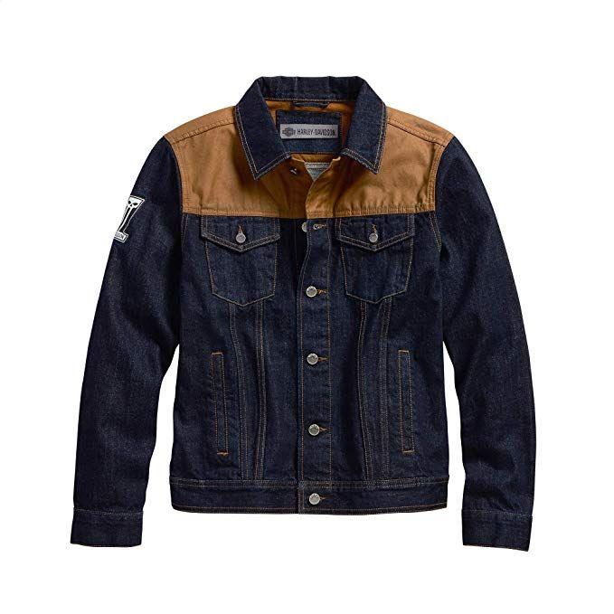Harley-Davidson® Men/'s Large Plaid Button Front Shirt Blue 99038-17VM