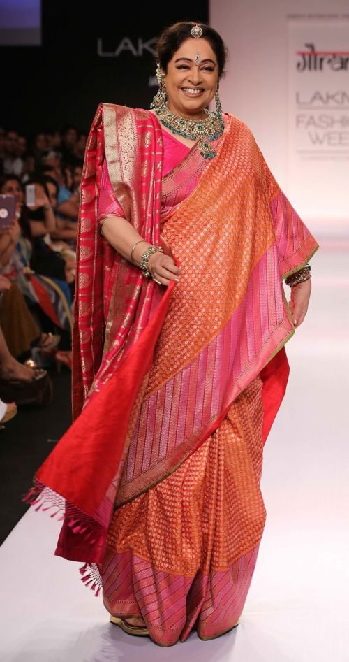 Kirron Kher in Gaurang Shah at LFW SR14