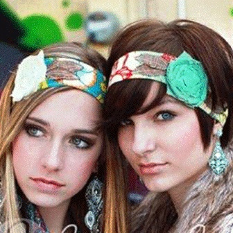 Funky Floral Headwraps! Love how they look with short hair.