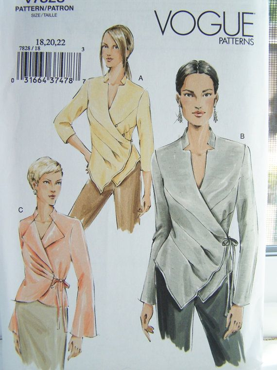 Vogue V7828 Sewing Pattern    Women's Wrap Blouse by WitsEndDesign
