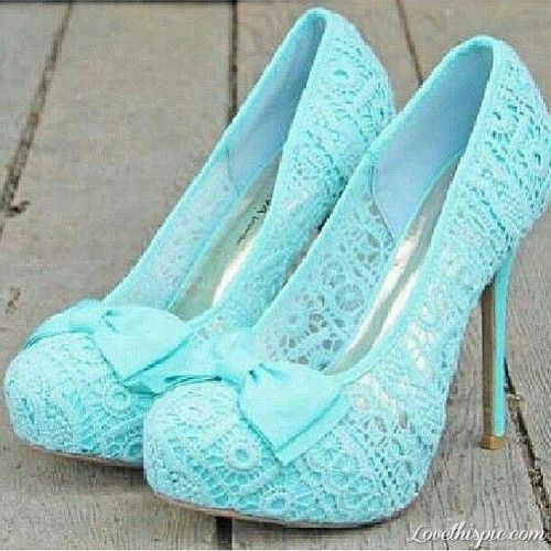 Blue Lace Pumps fashion cute blue shoes lace stilettos spiked pumps skyblue