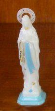 Our Lady of Lourdes luminous Crowned Statue 6 cm