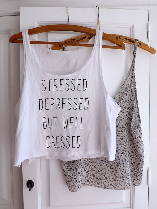 my thoughts in 5 words on a fashionable t-shirt