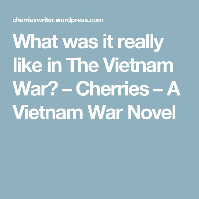 What was it really like in The Vietnam War? – Cherries – A Vietnam War Novel