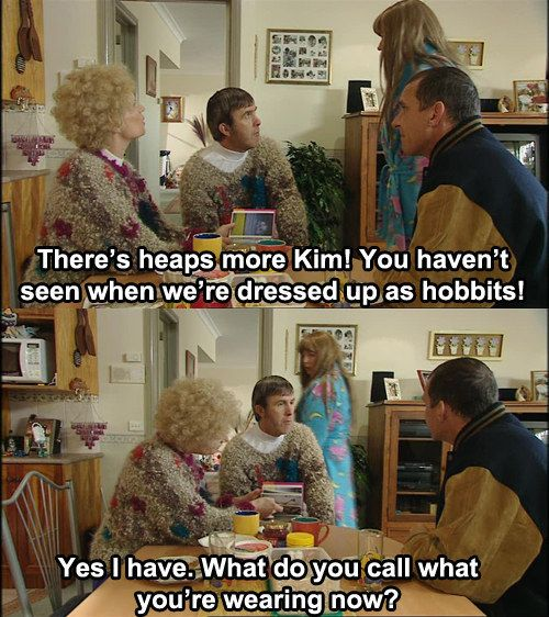 """And you're always happy to call other people out on their poor fashion choices. 