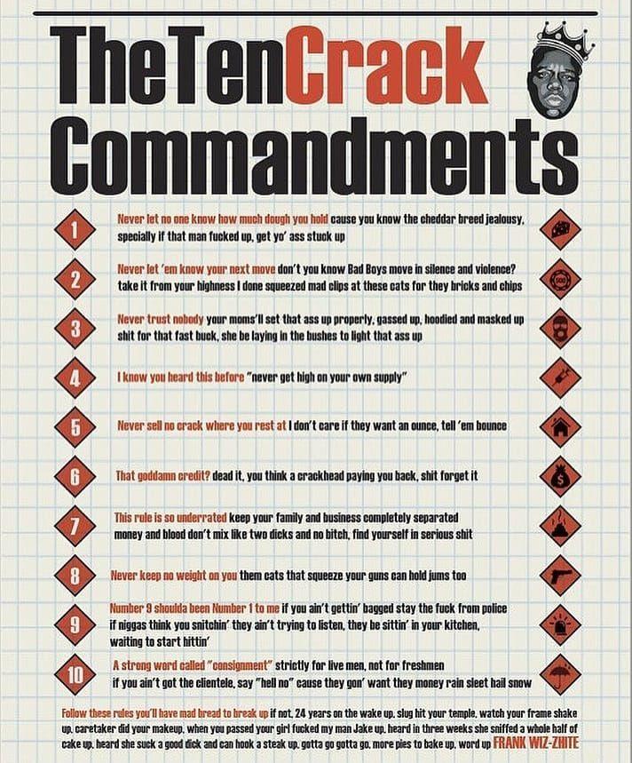biggie ten crack commandments lyrics