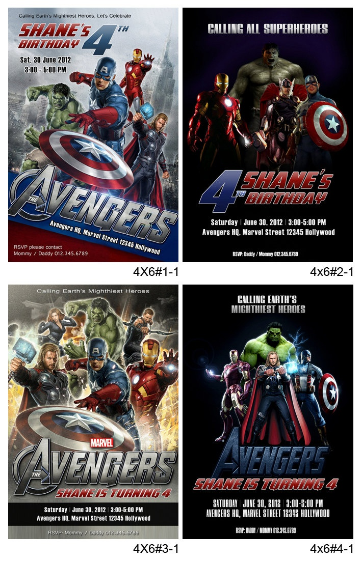 87 best images about Avengers Superman party – Marvel Party Invitations