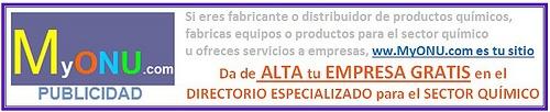 Banner-Alta-Gratis www.MyONU.com  Registro gratis en Directorio Especializado en Empresas del Sector Químico y todos Sus Proveedores:  http://www.myonu.com/registrogeneral.asp