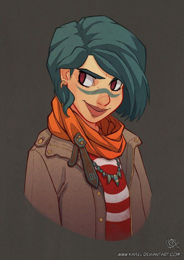 Blue Hair by Kaisel.deviantart.com on @DeviantArt