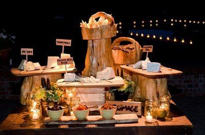 cheese table | Having a cheese table is a great idea for the reception cocktail hour ...