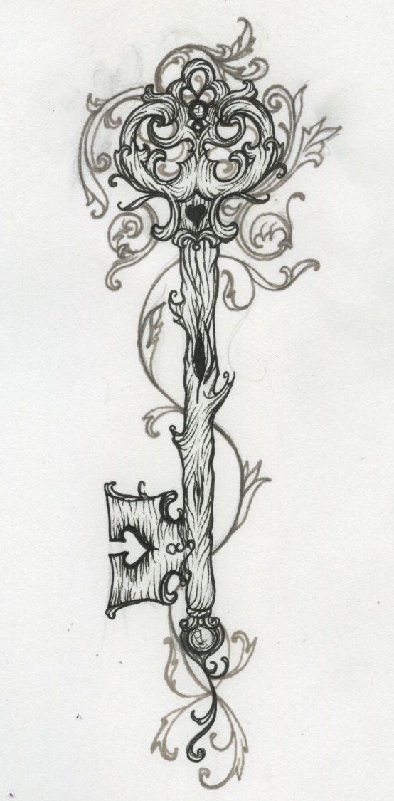 Dibujo de llave..#Magaly12323