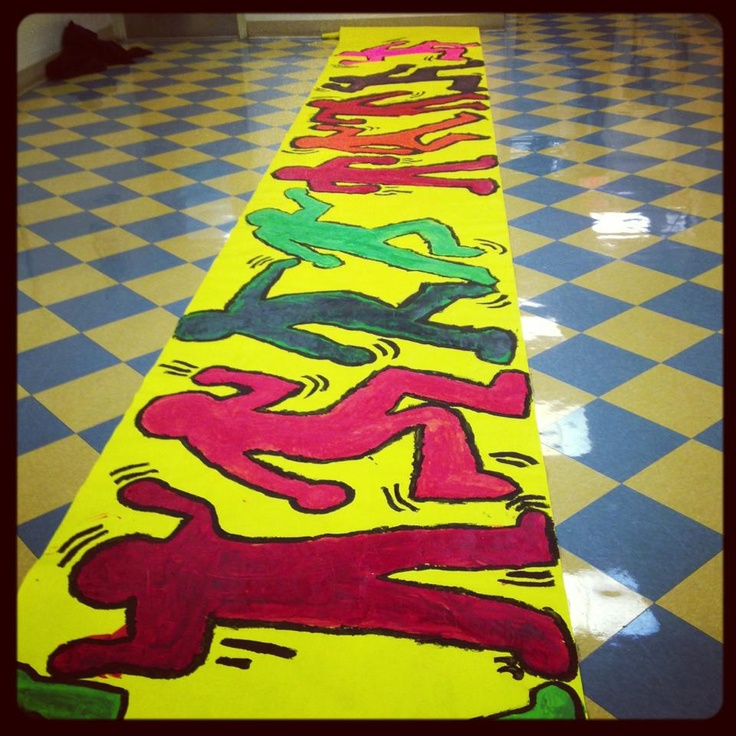 K & First Grade Art Lesson- We are studying the East Village and POP ART. Inspiration focusing on Keith Haring.