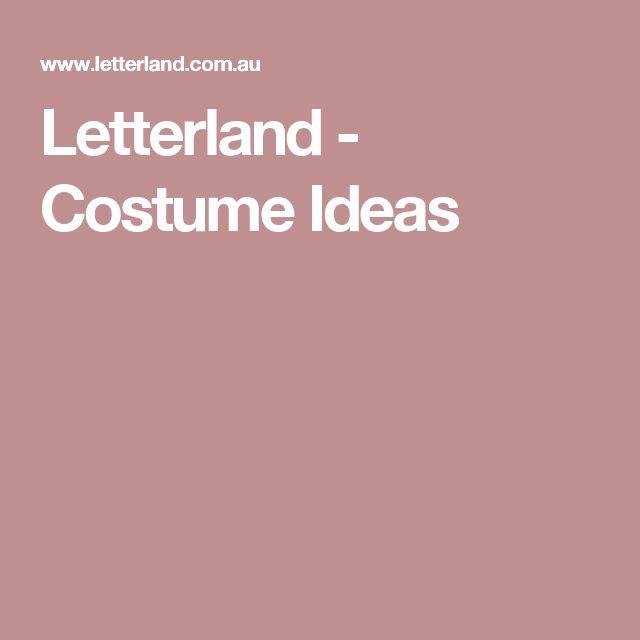 Letterland - Costume Ideas