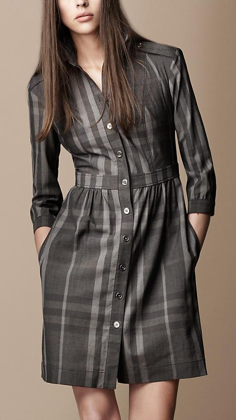 Burberry Check Shirt Dress $595