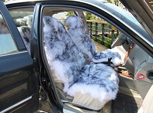 1 Piece Australia Sheepskin Car Seat Covers Real Fur Car Interior Accessories Cushion Newest Winter Stylish Plush Car Seat Cover by Okayda wholehide.