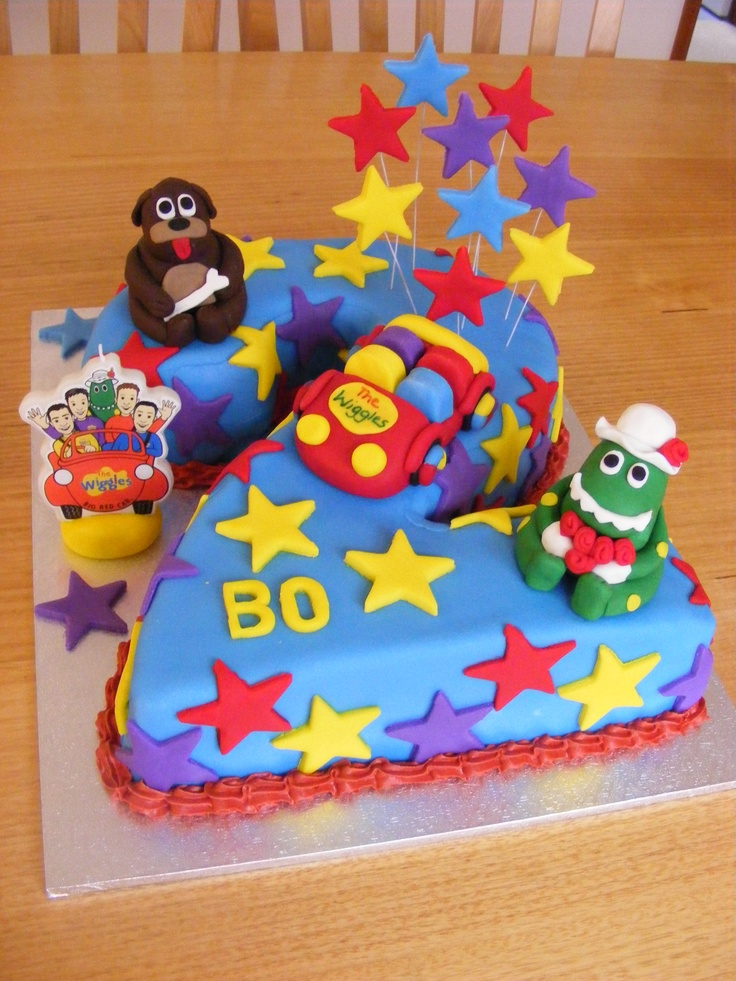 Wiggles cake idea for Lachan's birthday