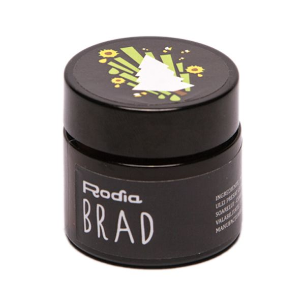 Crema Brad Crema BRAD este descongestionanta prin efectul ingredientelor si nu prin efectul uleiului volatil (ca in cazul uleiului de eucalipt, etc.). Deci aceasta crema poate fi folosita pentru ameliorarea simptomelor la orice credeti ca trebuie descongestionat: nas infundat, tuse, conjunctivita (se da in jurul ochiului), cucuie, etc. De asemenea foloseste si pentru mici afectiuni ale pielii, buze crapate, bubulite pe piele, arsuri solare.  La nas infundat se maseaza pe spate sau pe piept…