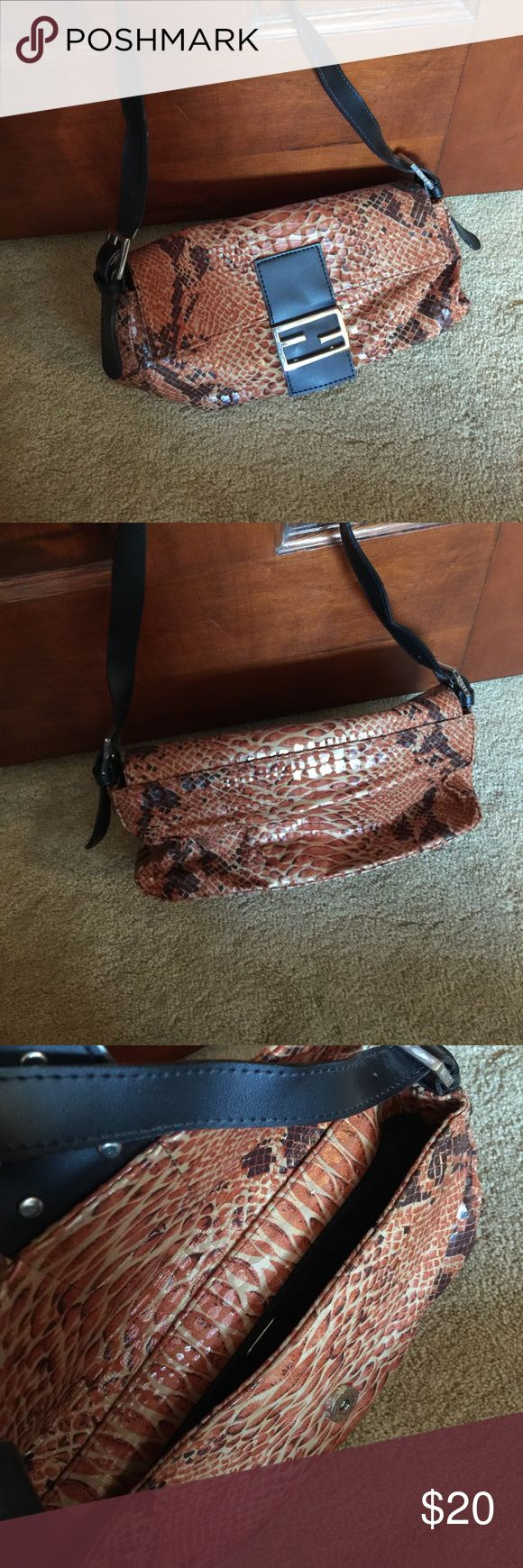 Snakeskin Fendi purse Small fendi purse. Ok condition. Fendi Bags Mini Bags