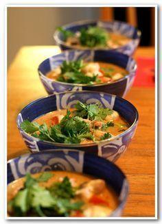 Soupe thailandaise de crevettes à la citronnelle