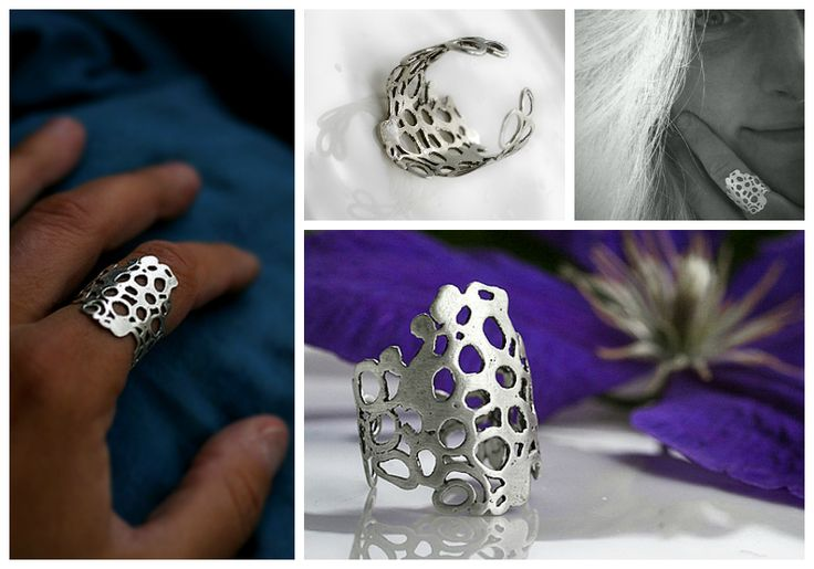 GAIA, recycled sterling silver ring handmade by Pako korut.