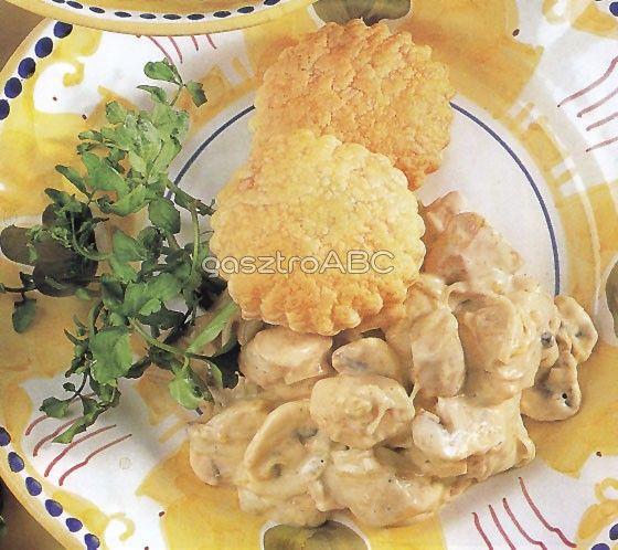 Tejszínes csirke leveles fánkkal | Receptek