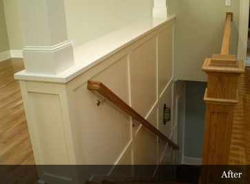 Half Wall Stairs Design Ideas, open living room to kitchen ...