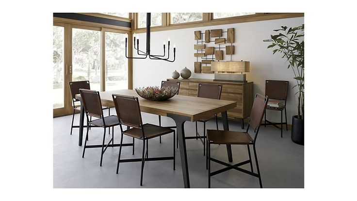 Laredo Brown Leather Dining Chair Dining Table Leather Dining