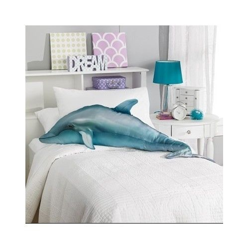 Cuddly Dolphin Pillow Fish Fishing Home Decor Large
