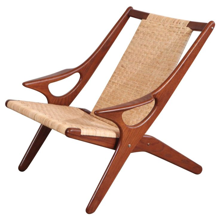 Arne Hovmand-Olsen Teak and Wicker Armchair