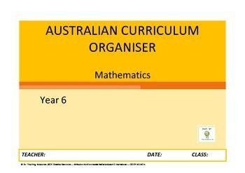 Curriculum organiser maths