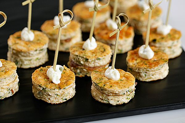 Zucchini Haloumi Fritters.  #fingerfood #canapés #catering #cateringperth #food #grinnerscatering #weddingfood #weddings #partyfood #parties #perthwa