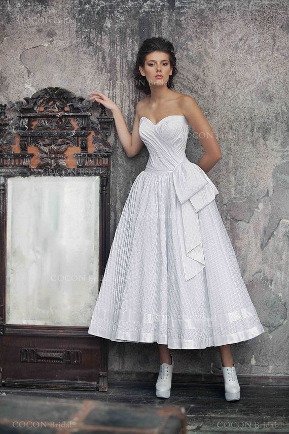 Polka Dot  Wedding Gown 50s Wedding Dress Full by CoconBridal For Authentic Vintage Wedding Jewelry go to: https://www.etsy.com/shop/ButterflyEffectInc
