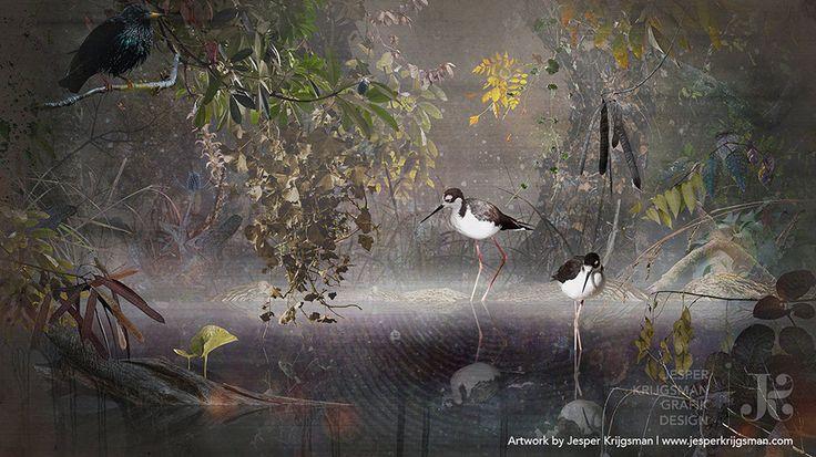 Water Reflection by Jesper Krijgsman (120 cm x 90 cm — 2017)