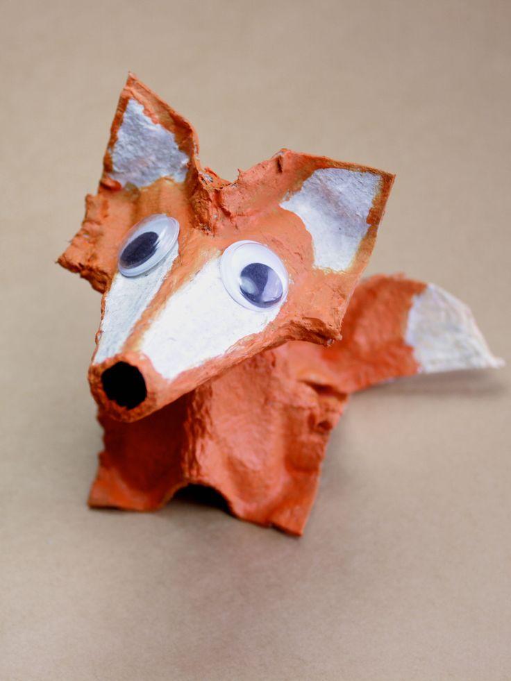 Egg Carton Fox                                                                                                                                                      Mais