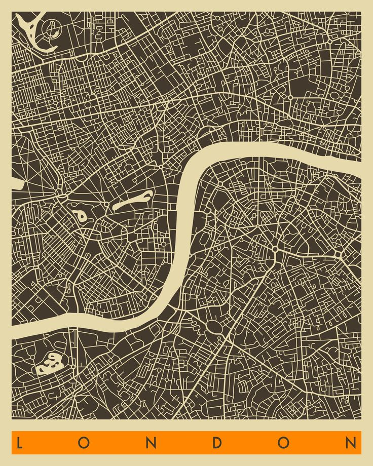 London Map bw by Jazzberry Blue 105