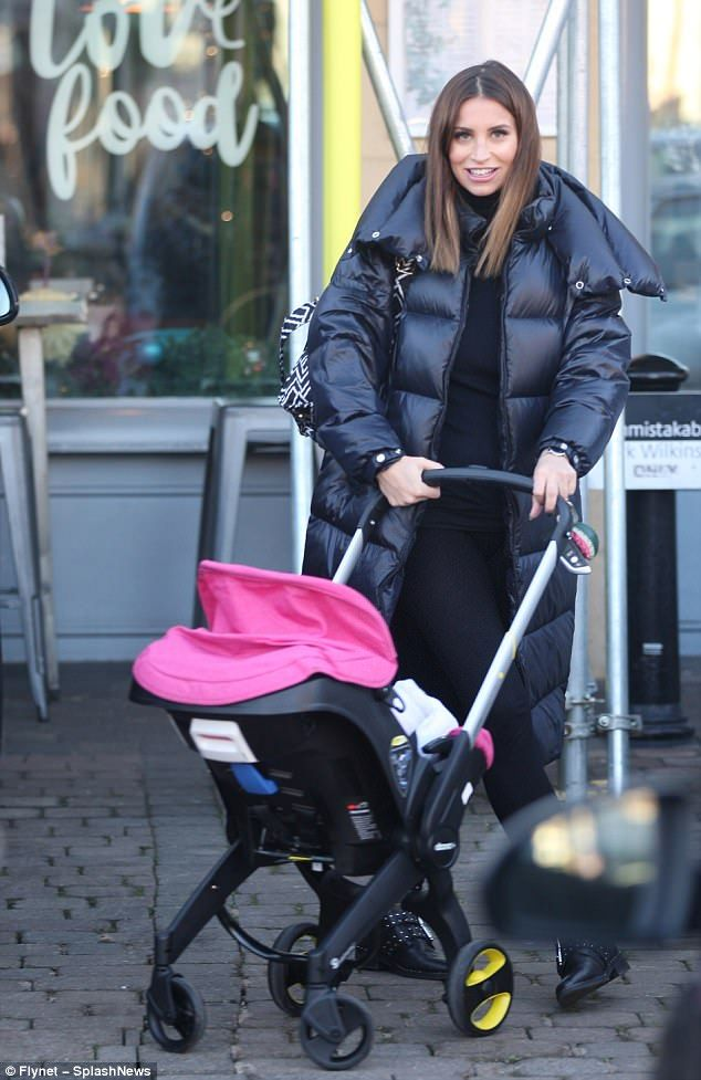 Yummy mummy:Ferne McCann looked every inch the doting mum as she treated her beloved baby...