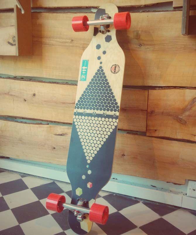 Icone Curve Longboard by #iconelongboards #kahalanitrucks #longboard