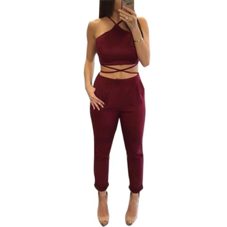 Femme Clubbing Jeans Combinaison Top Femme Noir Ensemble Combi 6 8 10 12 14