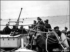 British troops on landing craft as part of the D Day Landings