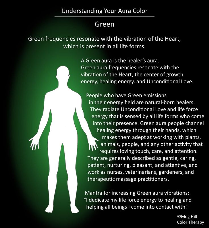 Understanding your Aura color: Green I have been told is my color...sometimes blue.