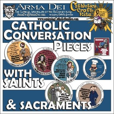 Catholic Conversation Pieces...hmmm, could this work for the classroom too?