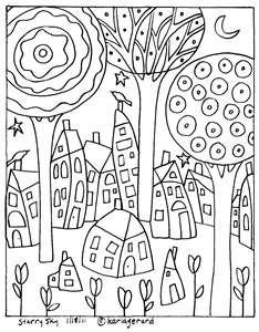 #Folk art coloring page