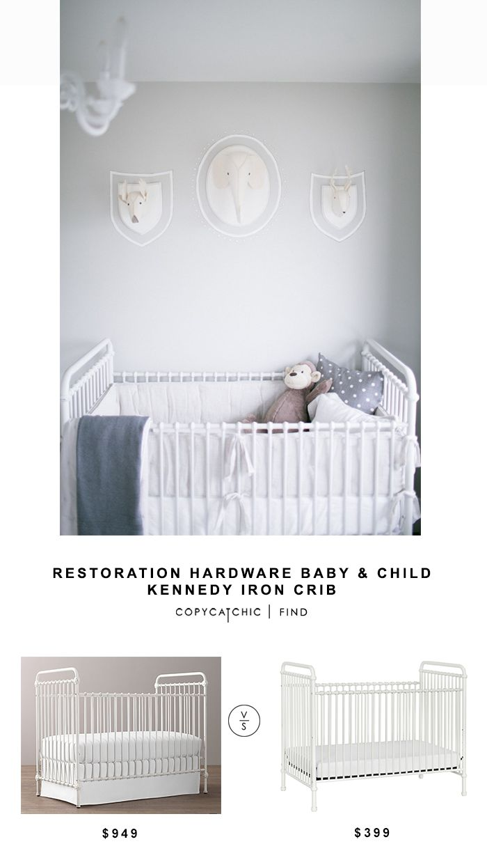 Restoration Hardware Baby & Child Kennedy Iron Crib for $949 vs Wayfair Franklin & Ben Abigail Crib for $399 Copy Cat Chic luxe living for less budget home http://www.copycatchic.com/2016/12/restoration-hardware-baby-child-kennedy-iron-crib.html?utm_campaign=coschedule&utm_source=pinterest&utm_medium=Copy%20Cat%20Chic&utm_content=Restoration%20Hardware%20Baby%20and%20Child%20Kennedy%20Iron%20Crib