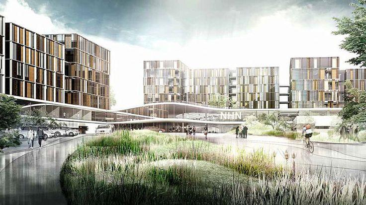 CF moller shortlisted to design denmark's largest hospital -- new north zealand hospital  - designboom | architecture & design magazine