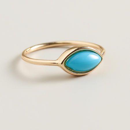 Gold Turquoise Midi Ring | World Market