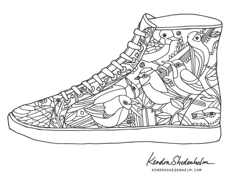 176 Best Shoes Coloring Pages For Adults Images On Pinterest