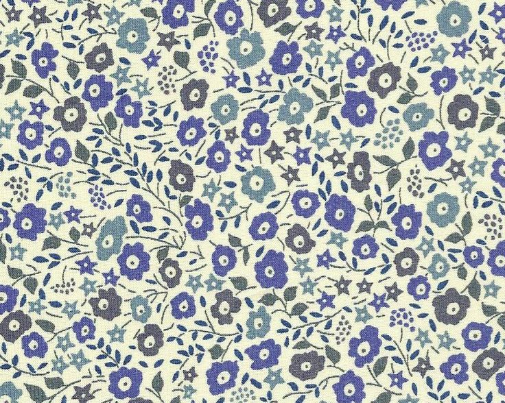Fairford blue  Liberty of London fabric
