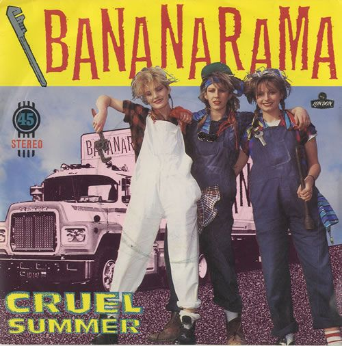 "For Sale - Bananarama Cruel Summer UK  7"" vinyl single (7 inch record) - See this and 250,000 other rare & vintage vinyl records, singles, LPs & CDs at http://eil.com"