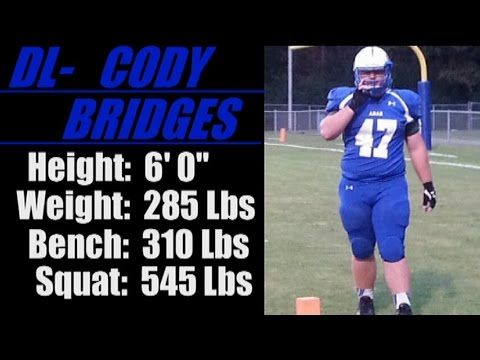 "2017-'Street Light Recruiting' DL- CODY BRIDGES (6' 0""- 285 Lbs) Arab High School 'AL' - IBOtube"
